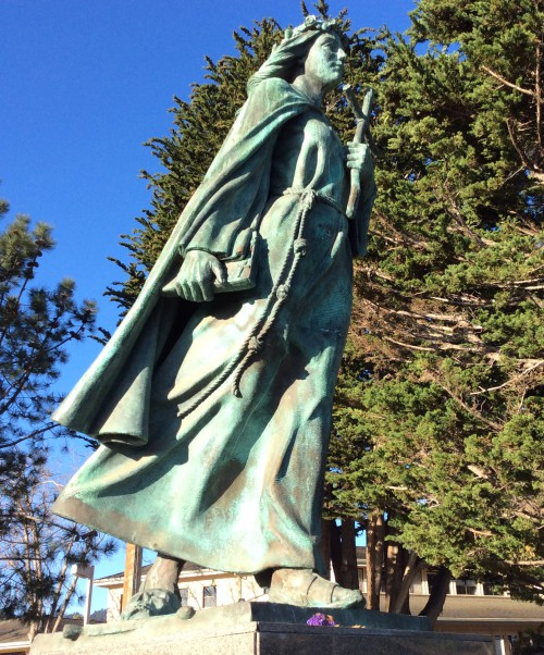 Santa Rosalia looks out over the Monterey Bay, watching over its fishermen.
