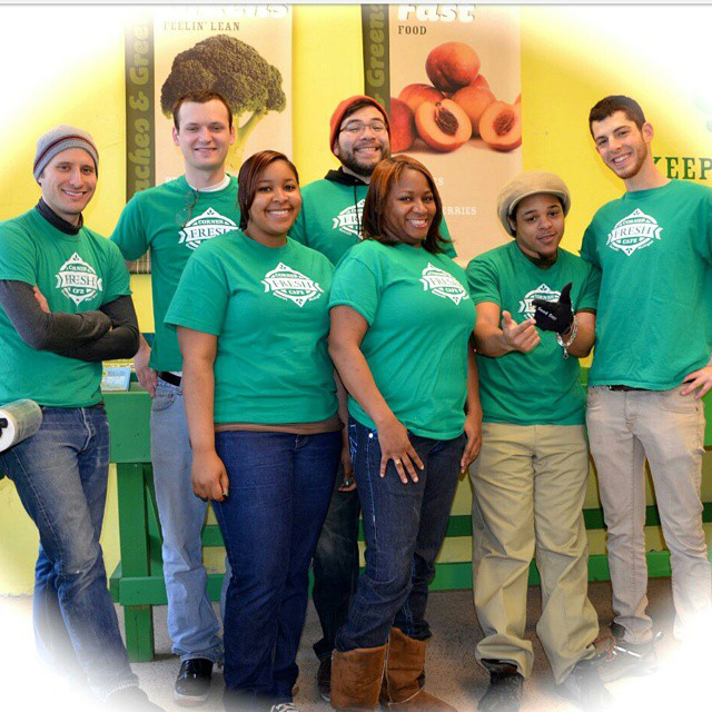 The Fresh Corner Cafe Team, Noam Kimelman at far right.