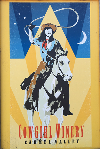 Cowgirl Winery Poster